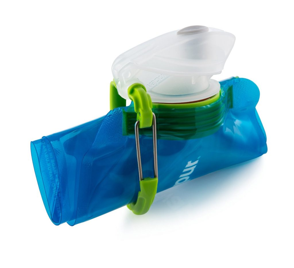 The Vapur bottles roll up to take less space.