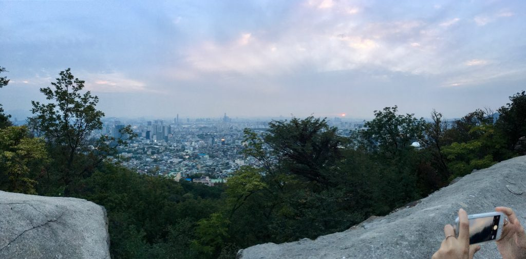 View during the N Seoul Tower Hike