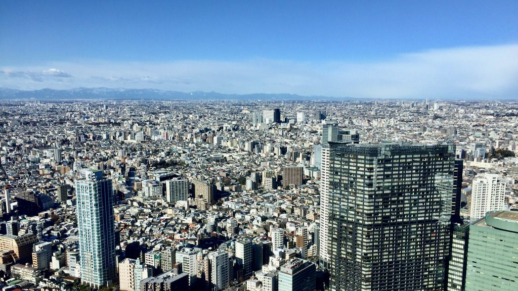 The view from Tokyo Metropolitan Government Building