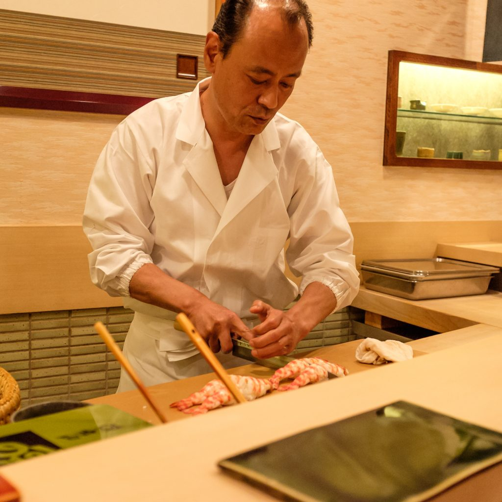 Takashi Ono Preparing Ebi